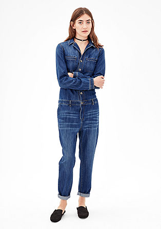 Casual denim jumpsuit