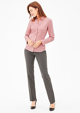 Fitted blouse in smooth poplin from s.Oliver