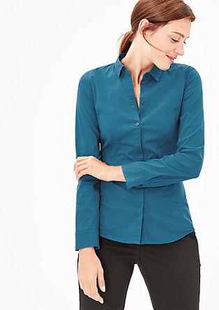 Taillierte Bluse aus glatter Popeline