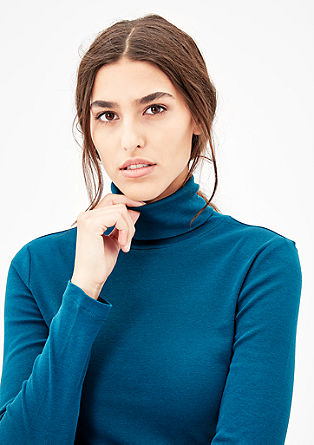 Slim-fitting polo neck top from s.Oliver