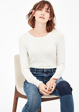Ribbed long sleeve top from s.Oliver