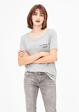 Melange-Shirt aus softem Jersey