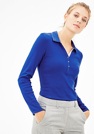 Contrasting long sleeve polo shirt from s.Oliver