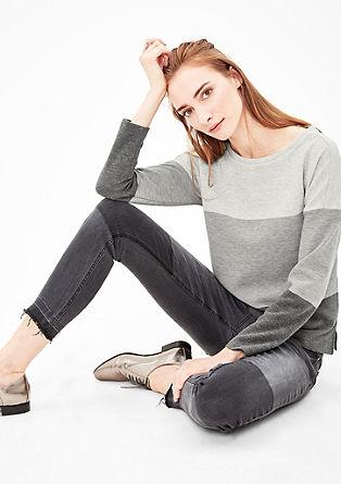 Sweatshirt met colour blocking