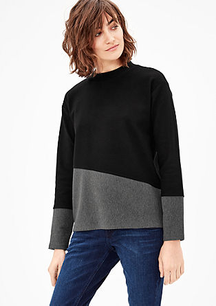 Mixed fabric sweatshirt from s.Oliver