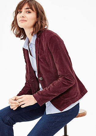 Casual corduroy blazer from s.Oliver
