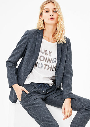 Boyfriend-Blazer in Woll-Optik