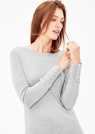 Jemný pulovr s lodičkovým výstřihem