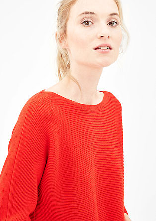 Ribbed batwing jumper from s.Oliver