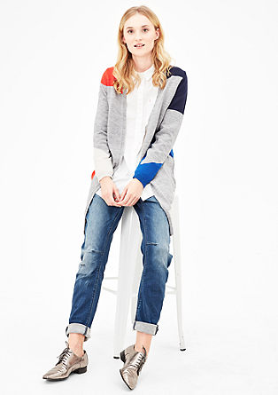 Cardigan with colour blocking from s.Oliver