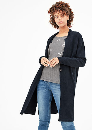 Long cardigan with a stand-up collar from s.Oliver