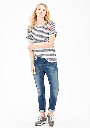 Casual Bowleg: Relaxte Used-Jeans