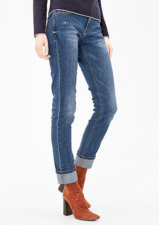 Shape Slim: Jeans mit Stitching