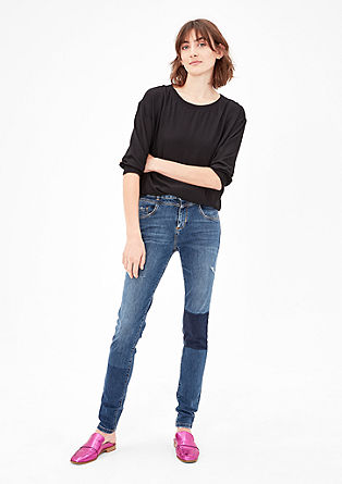 High Rise Skinny: Destroyed Jeans