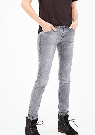 Shape superskinny: jeans in destroyed look