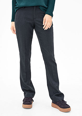Smart Straight: Bundfaltenhose