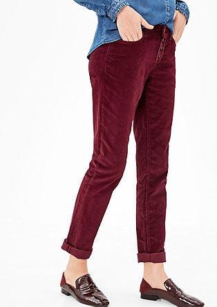 Shape Skinny: Needlecord trousers from s.Oliver
