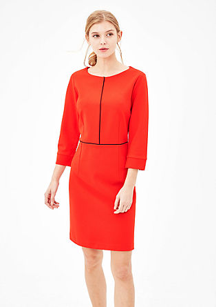 Piped jersey dress from s.Oliver