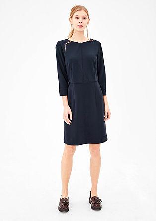 Jersey jurk met paspel