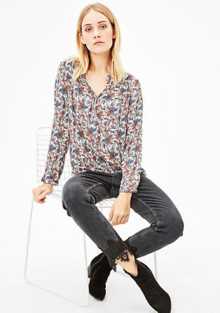 Tunic with an all-over floral print from s.Oliver