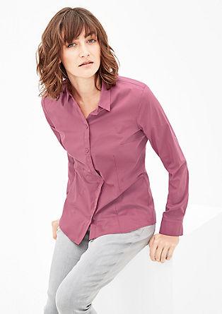 Taillierte Bluse aus Popeline