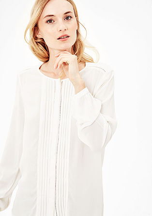 Crêpe blouse with pintuck pleats from s.Oliver