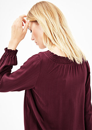 Loose ruffle blouse from s.Oliver