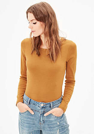 Finely ribbed long sleeve top from s.Oliver