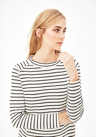 Long sleeve top with an open-work texture from s.Oliver
