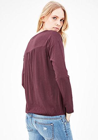 Melirana majica v obliki črke O