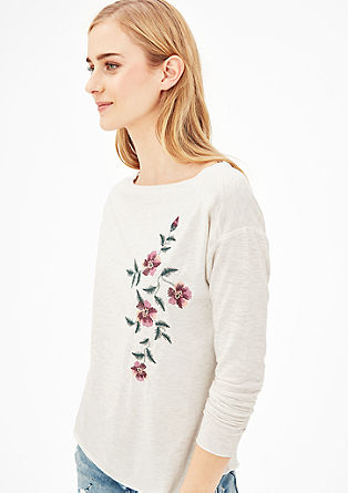 Longsleeve mit Embroidery-Stickerei