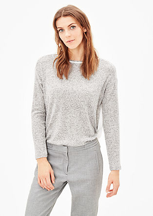 Long sleeve top in a mix of materials from s.Oliver