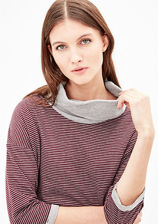 Double-faced top with a polo neck from s.Oliver
