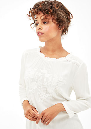 Blouse top with ethnic embroidery from s.Oliver