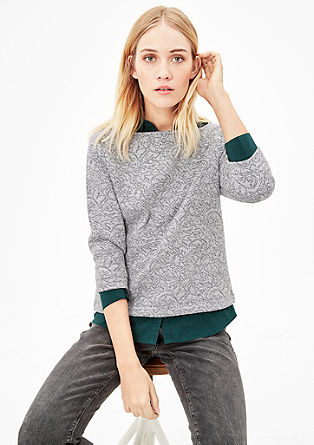 Sweatshirt with a jacquard pattern from s.Oliver
