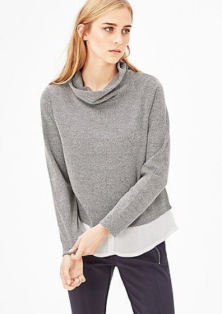 Cropped sweatshirt with layers from s.Oliver