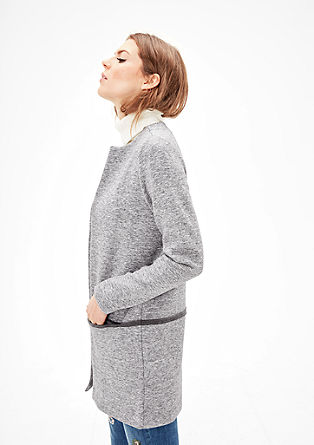 Long cardigan in sweatshirt fabric from s.Oliver