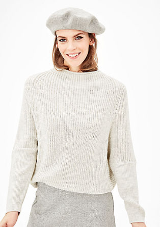 Batwing sleeves in a textured knit from s.Oliver