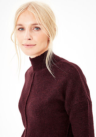 Knit jumper with a stand-up collar from s.Oliver
