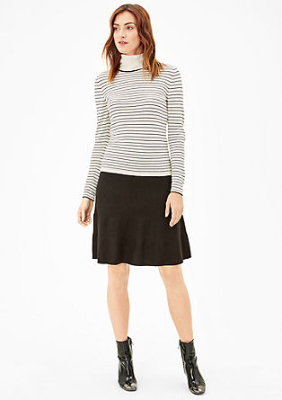 Striped polo neck jumper from s.Oliver