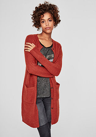 Long cardigan with alpaca from s.Oliver