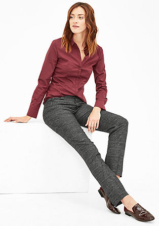 Smart straight: broek met prince-de-galles