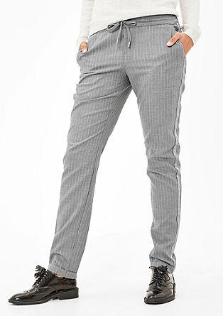 Smart Chino: Hose mit Streifen-Detail