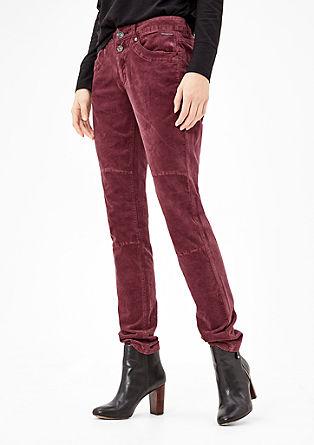 Shape Skinny: stretch velvet trousers from s.Oliver