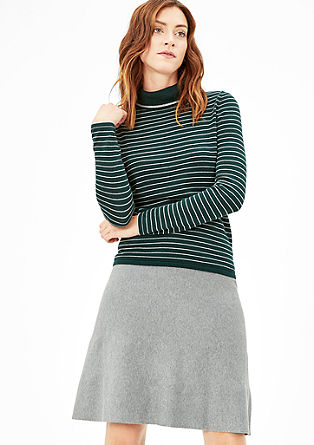 Finely ribbed midi skirt from s.Oliver