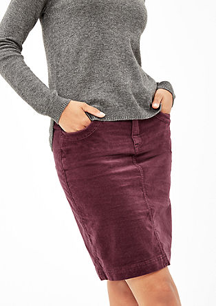 Short velvet skirt from s.Oliver