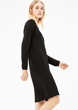 Dress with a knit pattern from s.Oliver