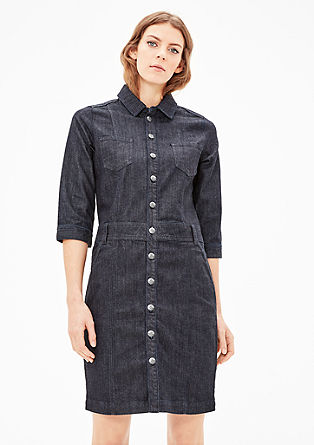 Denim-Kleid mit Knopfleiste