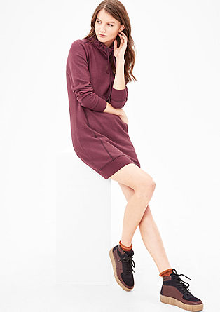 Sweatshirt dress with a turtleneck from s.Oliver