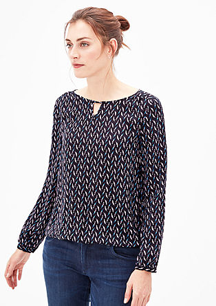 Lahka bluza s potiskom po celotni površini